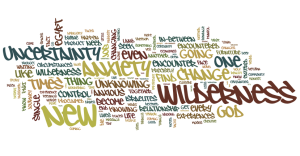 Word cloud from sermon text