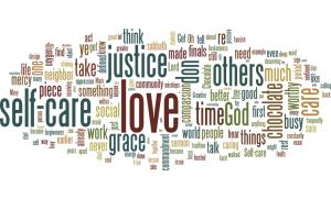 word cloud of sermon text