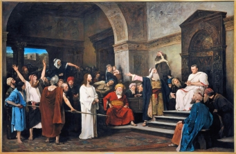 """Christ in front of Pontius Pilate, featured image for the essay """"The Gospel is inherently political"""""""